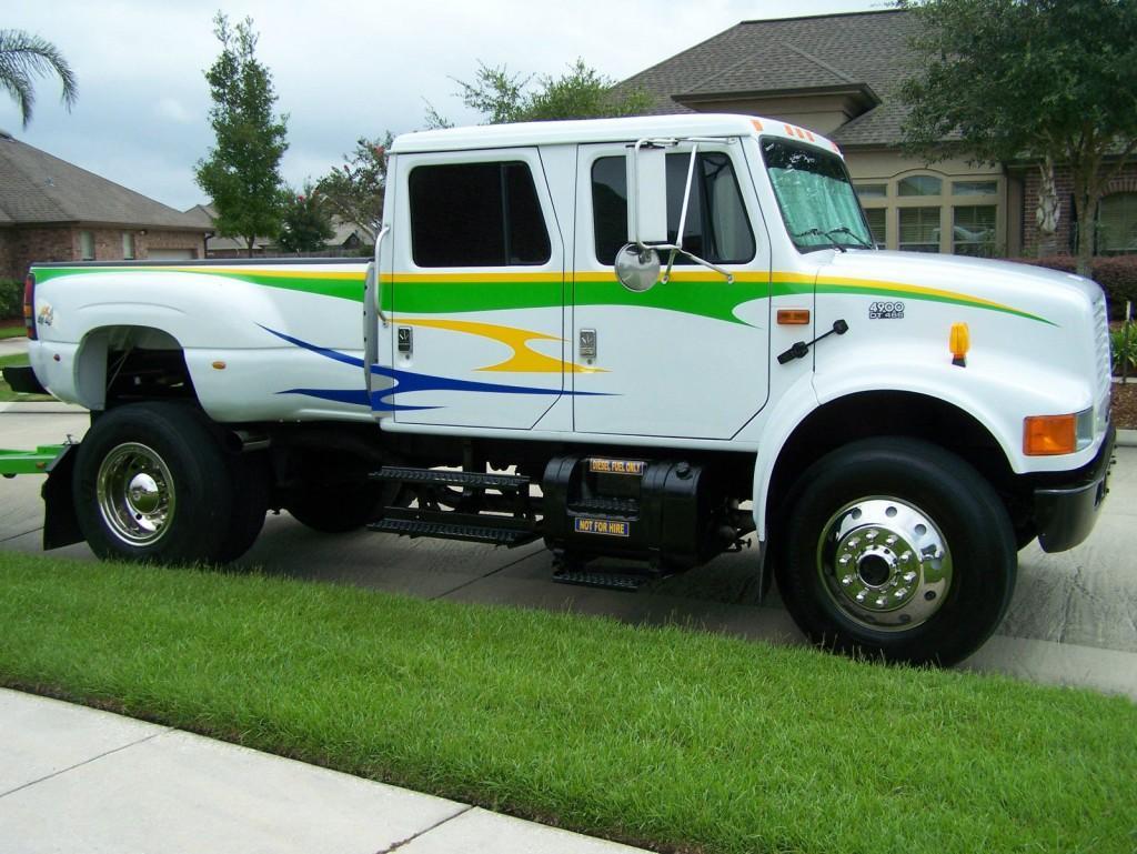1993 ford international 4900 dt466 conversion truck cxt styling for sale. Black Bedroom Furniture Sets. Home Design Ideas