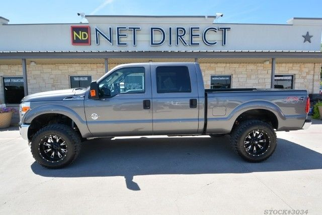 2014 Ford F 250 XLT Crew Cab Leveled Diesel 4×4 Truck for sale