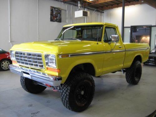 1979 ford f 100 4 4 custom build truck 351 w for sale. Black Bedroom Furniture Sets. Home Design Ideas