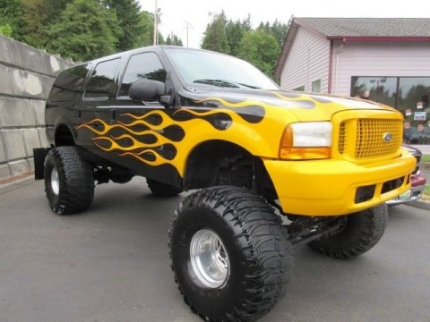 2000 Ford Excursion XLT 15in Lifted Monster on 44's for sale
