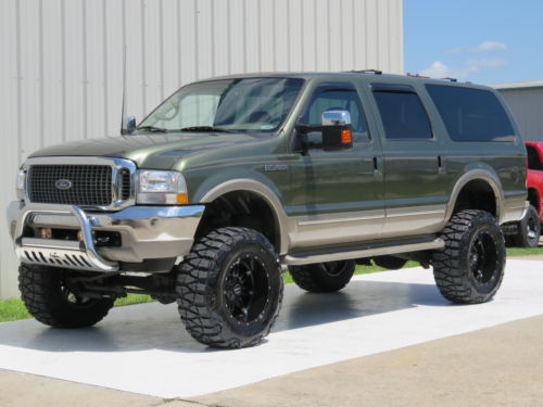 Custom Lifted Diesel Trucks For Sale >> 2002 Ford Excursion Diesel 4×4 King Ranch 8″ Lift 37sx20s for sale