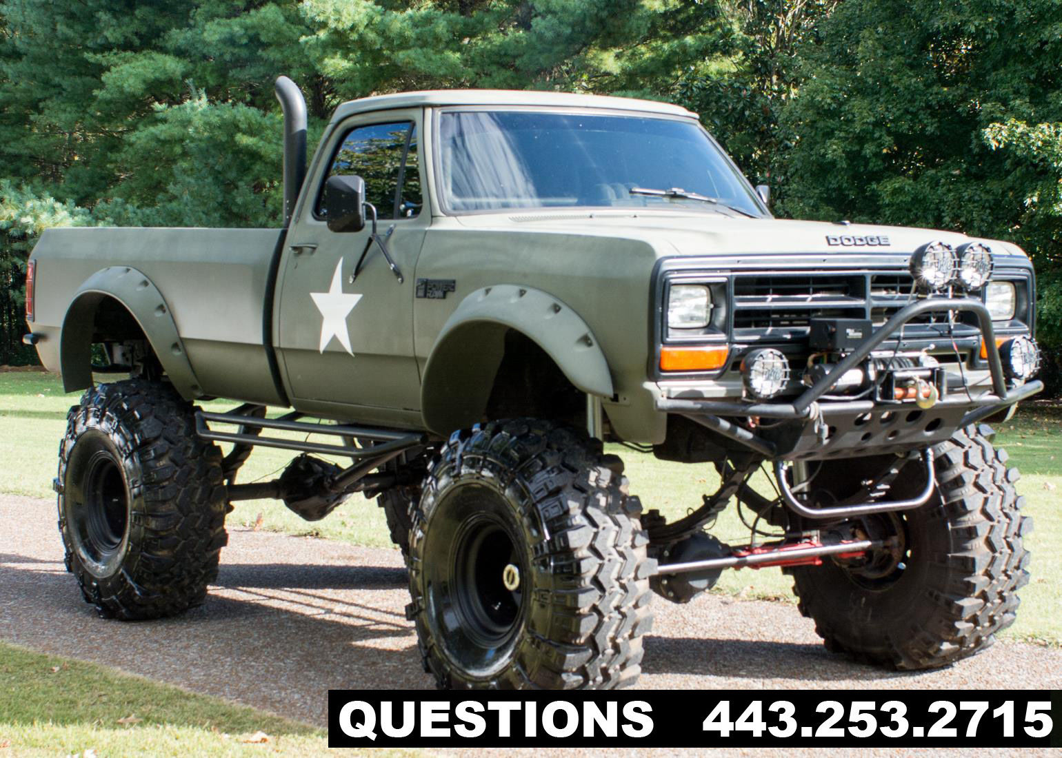 1989 dodge ram 2500 mud truck monster truck for sale. Black Bedroom Furniture Sets. Home Design Ideas