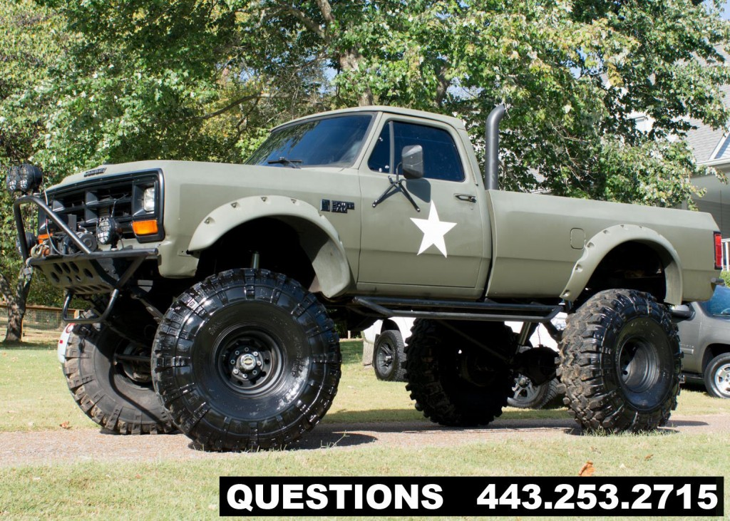 1989 Dodge RAM 2500 Mud Truck/monster Truck for sale