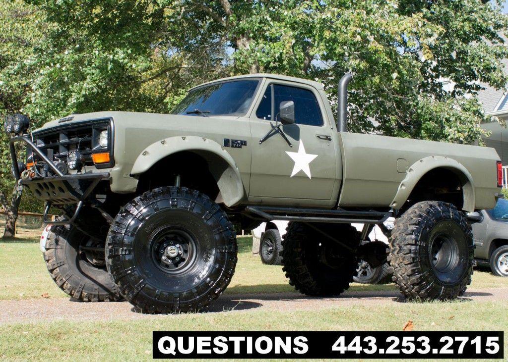 1989 dodge ram 2500 mud truck monster truck for sale. Black Bedroom Furniture Sets. Home Design Ideas