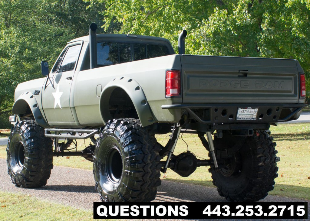 Real Monster Truck For Sale >> 1989 Dodge RAM 2500 Mud Truck/monster Truck for sale