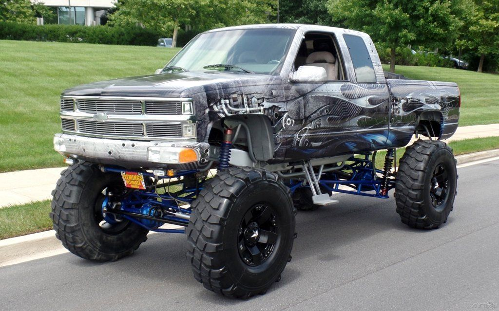 1992 chevrolet k pickup 1500 custom monster show truck for sale. Black Bedroom Furniture Sets. Home Design Ideas