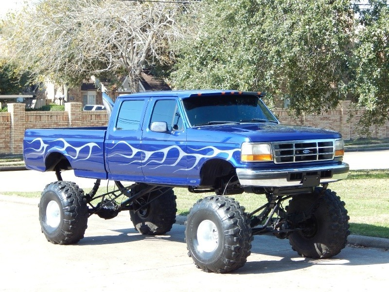 1997 Ford F 350 7.3L Diesel 4X4 Crew Cab Long Bed XLT