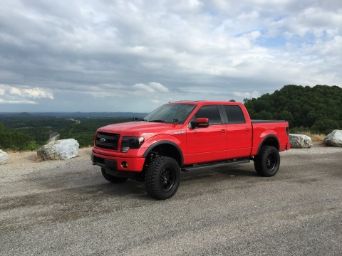 2014 Ford F150 FX4 Super Crew 5'5 Red Lifted 5.0 for sale