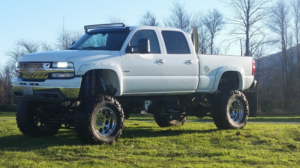 2002 chevrolet silverado 2500 monster truck duramax diesel for sale. Black Bedroom Furniture Sets. Home Design Ideas