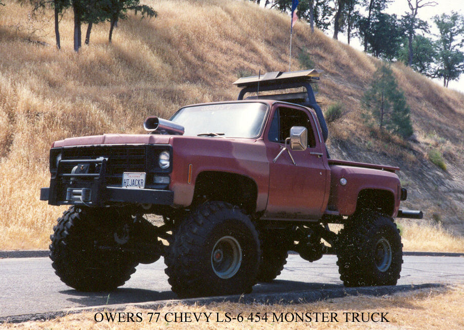 1977 Chevrolet Stepside 4 Wheel Drive Monster Truck For Sale