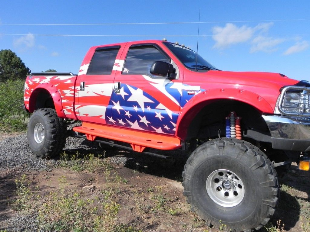 1999 ford f 250 monster truck 9 11 tribute for sale. Black Bedroom Furniture Sets. Home Design Ideas