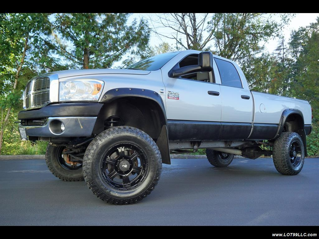2007 Dodge Ram 3500 Slt Long Bed 6 7l Turbo Diesel Lifted 4 4 New 37 For Sale