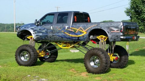 Crazy high 2002 Ford F-350 Custom Monster Truck for sale