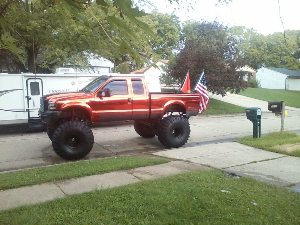 Extended cab 1999 Ford F 250 monster truck