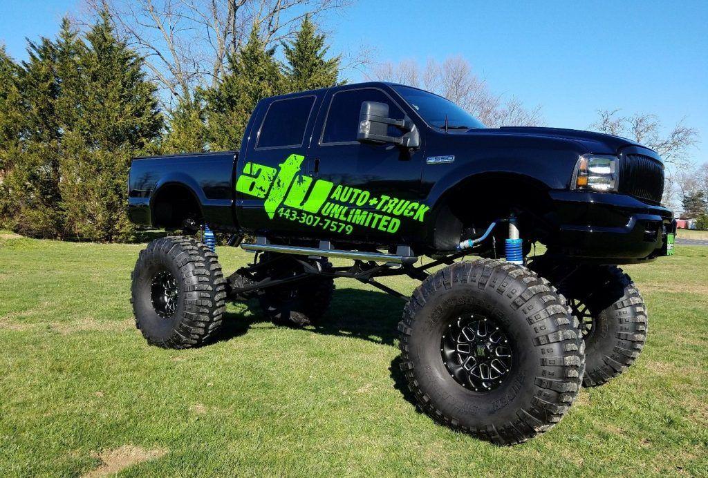show truck 2004 ford f 250 lariat monster for sale. Black Bedroom Furniture Sets. Home Design Ideas