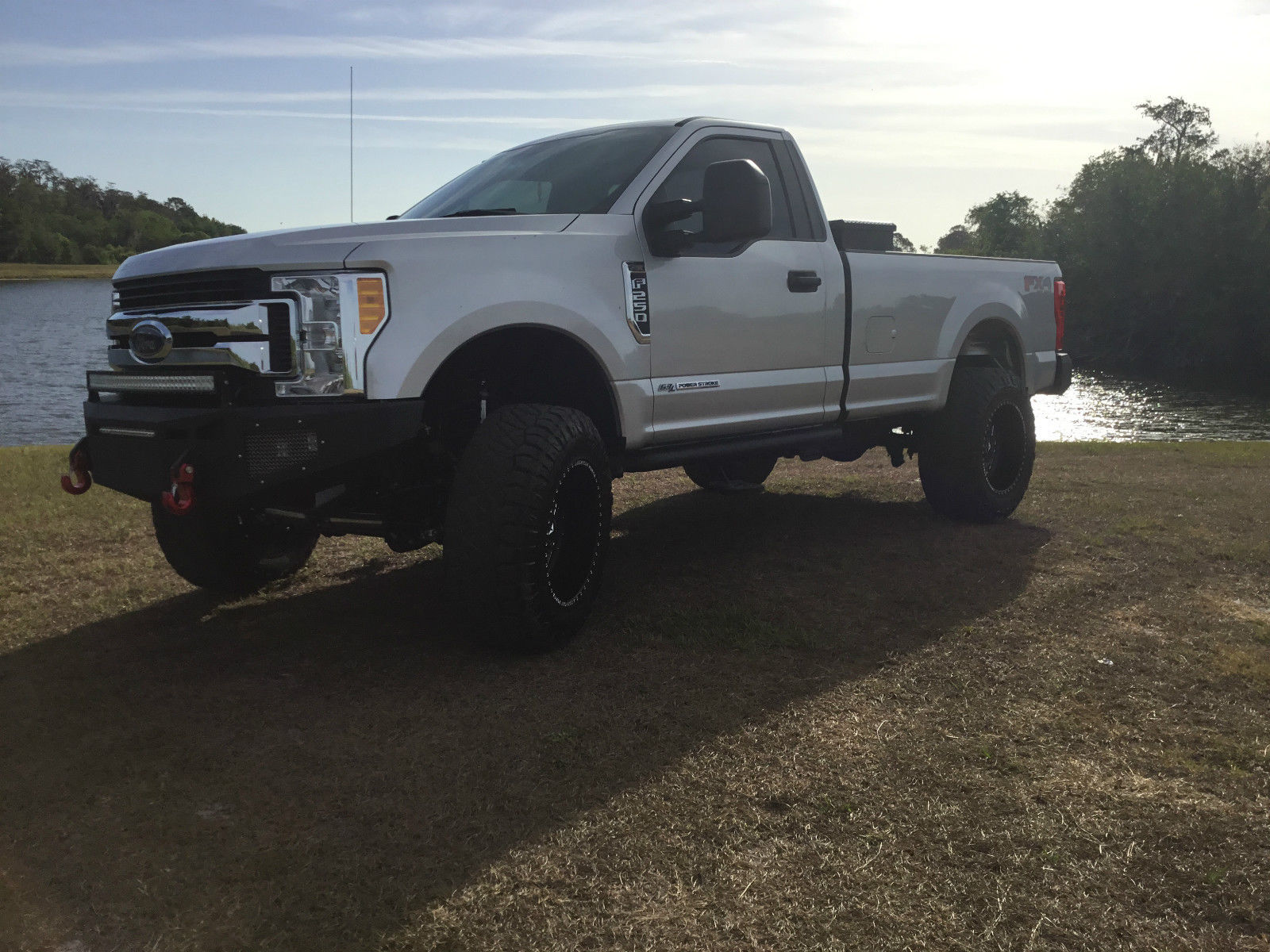 almost new 2017 ford f 250 xl standard cab monster truck for sale. Black Bedroom Furniture Sets. Home Design Ideas