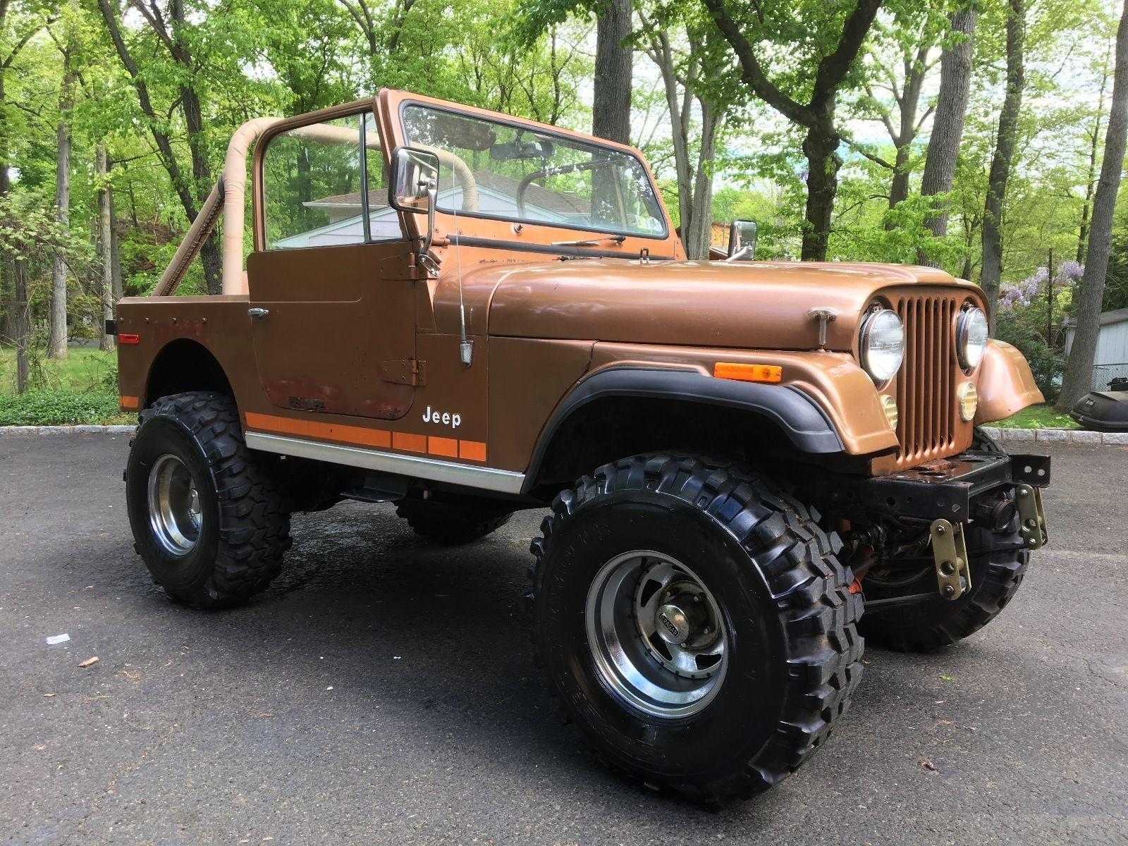 gold beauty 1979 jeep cj monster for sale. Black Bedroom Furniture Sets. Home Design Ideas