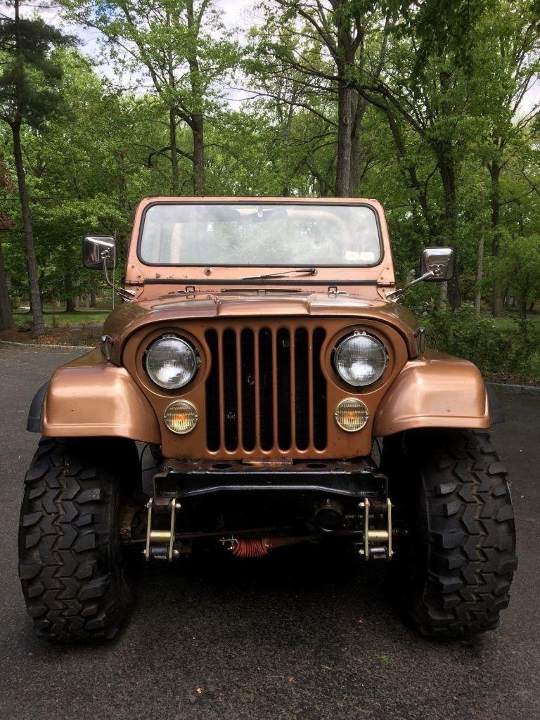 Gold beauty 1979 Jeep CJ monster
