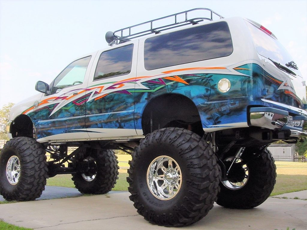 Show winner 2000 Ford Excursion monster truck for sale