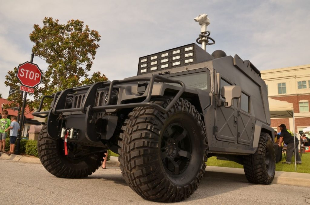 Custom interior 2014 Hummer H1 Executive Edition monster
