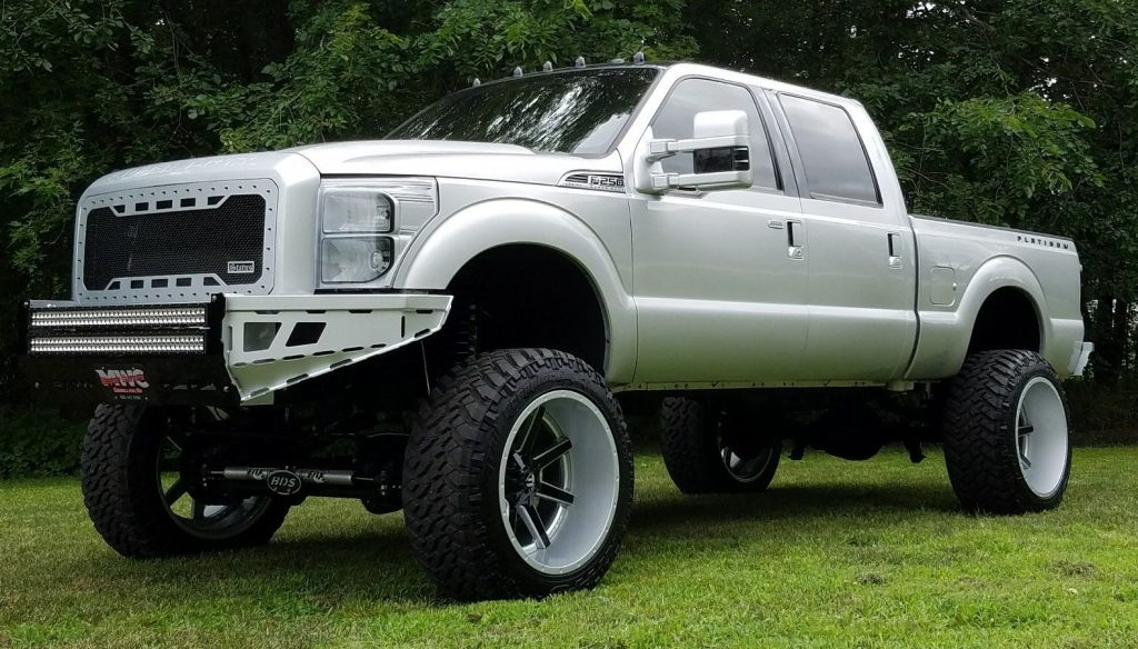 customized 2014 ford f 250 platinum monster for sale. Black Bedroom Furniture Sets. Home Design Ideas