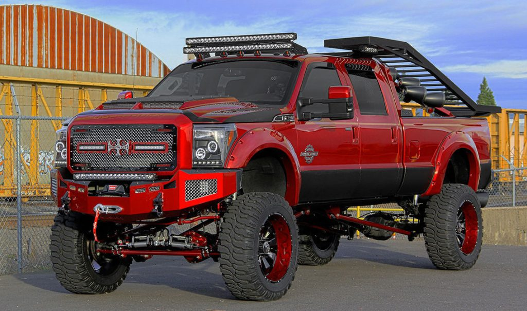 Fully Loaded 2014 Ford F 350 King Ranch Crew Cab Monster