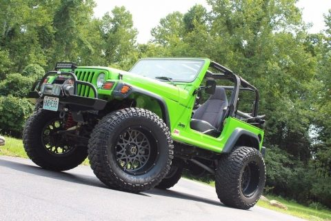 Custom Lifted Rims 1998 Jeep Wrangler Sport monster for sale