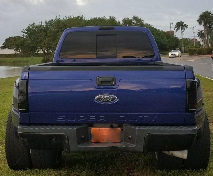 Custom wheels 2008 Ford F 450 monster