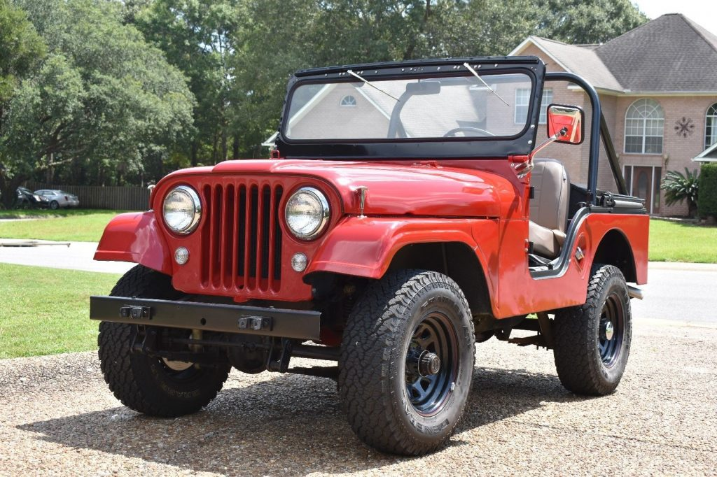 customized 1961 Willys CJ5 monster truck