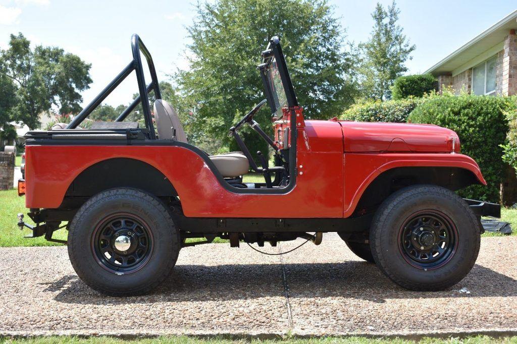 customized 1961 Willys CJ5 monster truck