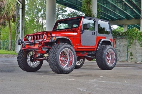 sharp 1997 Jeep Wrangler Custom TJ SPORT monster for sale