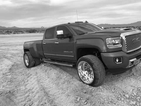 very low miles 2017 GMC Sierra 3500 Denali monster truck for sale
