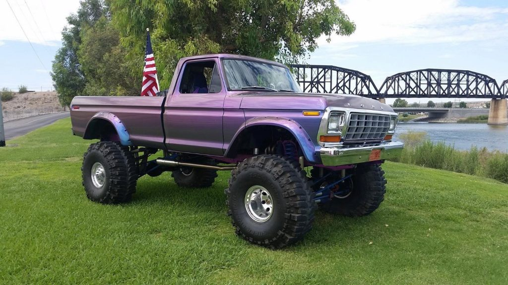 clean 1979 Ford F 150 xlt monster truck