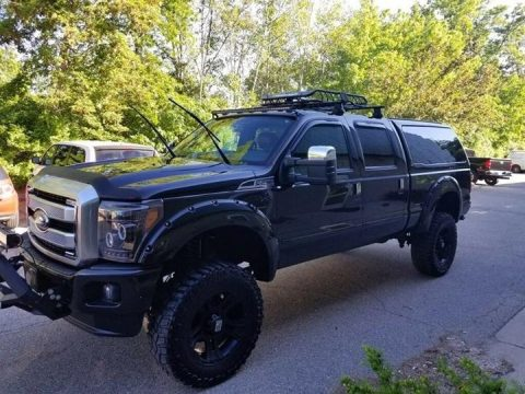 many custom parts 2015 Ford F 250 Platinum monster truck for sale