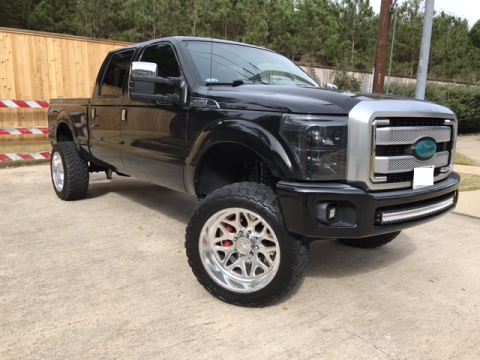 nicely customized 2015 Ford F 250 Platinum monster for sale