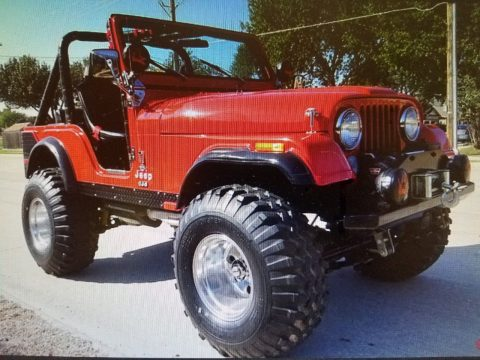 big red beast 1976 Jeep CJ monster truck for sale