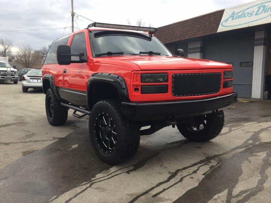 heavily customied 1994 Chevrolet Blazer monster