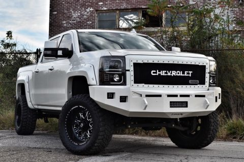 cool custom 2015 Chevrolet Silverado 1500 High Country monster truck for sale