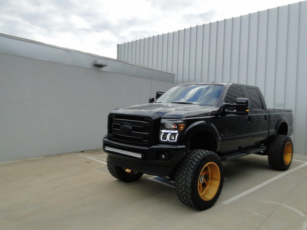 custom interior 2013 Ford F 250 Superduty monster truck