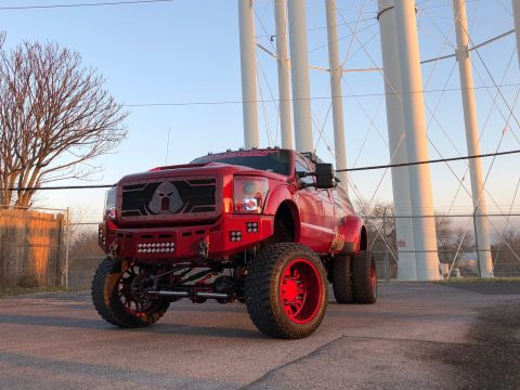heavily customized 2016 Ford F 350 Lariat monster truck for sale