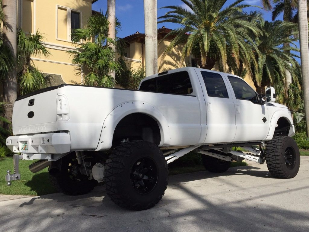 low miles 2011 Ford F 350 Lariat monster truck