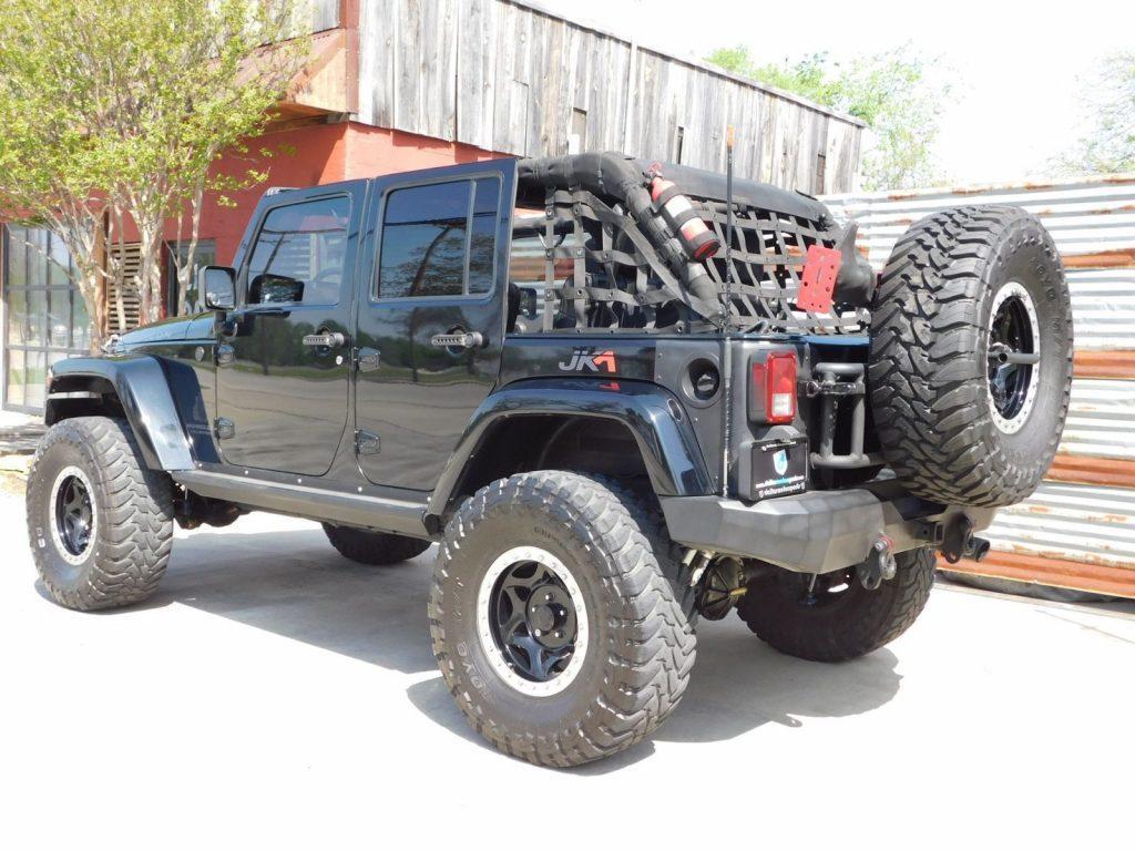 very clean 2007 jeep wrangler unlimited sahara monster truck for sale. Black Bedroom Furniture Sets. Home Design Ideas