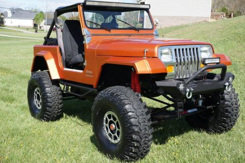 garaged rock crawler 1987 Jeep Wrangler YJ monster for sale