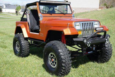 garaged rock crawler 1987 Jeep Wrangler YJ monster for sale