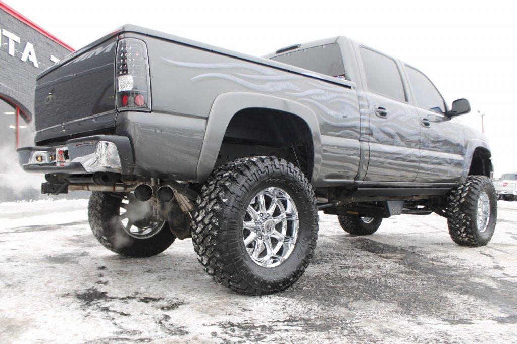lifted 2002 Chevrolet Silverado 2500 monster truck