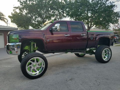 show custom 2007 Chevrolet Silverado 2500 monster truck for sale