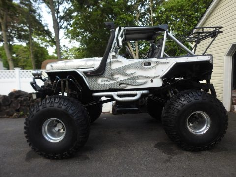 tuned small block 1989 Jeep Wrangler monster truck for sale