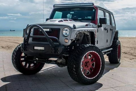 very low miles 2015 Jeep Wrangler monster truck for sale
