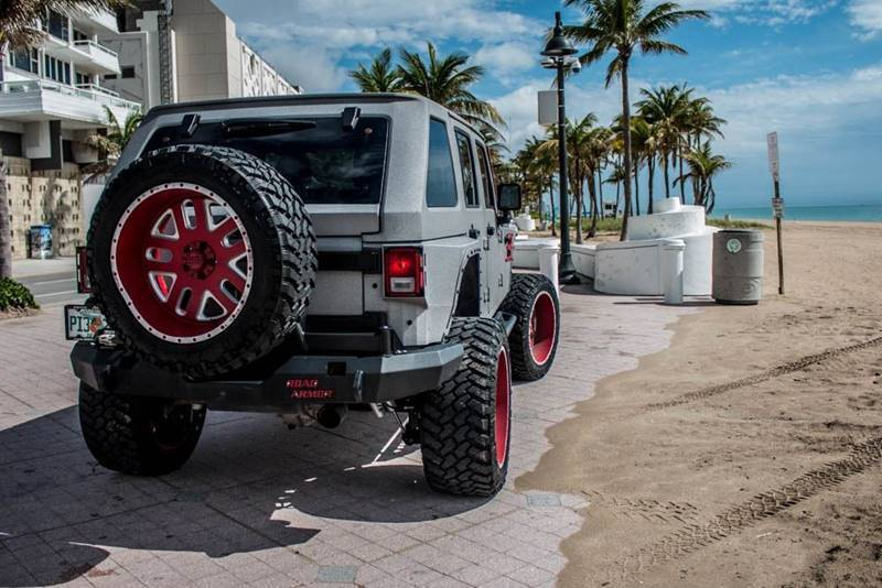 very low miles 2015 Jeep Wrangler monster truck