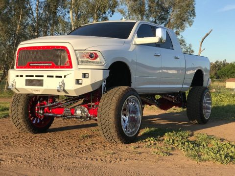 very low miles 2017 Dodge Ram 2500 Laramie Limited monster truck for sale